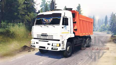 KamAZ-65111 for Spin Tires