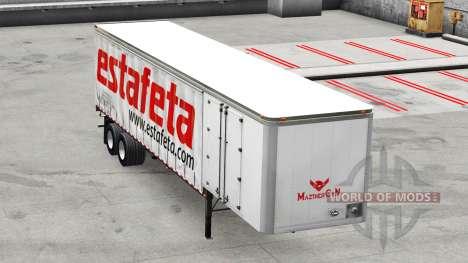 Skin Estafeta on a curtain semi-trailer for American Truck Simulator
