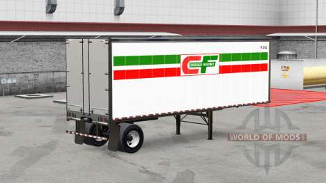 Skins for the all-metal trailer for American Truck Simulator