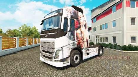 Skin Artistic Girl at Volvo trucks for Euro Truck Simulator 2