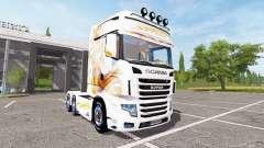 Scania R700 Evo gold blanc for Farming Simulator 2017