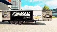 Skin NASCAR on a curtain semi-trailer for Euro Truck Simulator 2