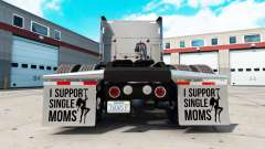 Mudguards I Support Single Moms v2.1 for American Truck Simulator
