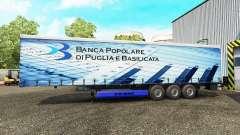 Skins on a curtain semi-trailer for Euro Truck Simulator 2