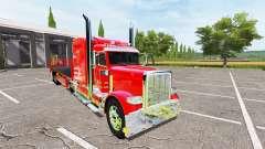 Peterbilt 388 flatbed auto load for Farming Simulator 2017