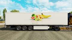 The skin of the Fruit on refrigerated semi-trailer for Euro Truck Simulator 2