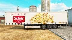 Skin Schar on a curtain semi-trailer for Euro Truck Simulator 2
