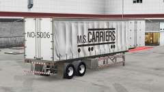 Skin M. S. Carriers on a curtain semi-trailer for American Truck Simulator