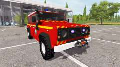 Land Rover Defender 110 feuerwehr for Farming Simulator 2017