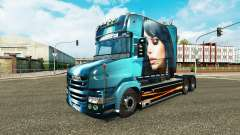 Beautiful Girl skin for truck Scania T for Euro Truck Simulator 2