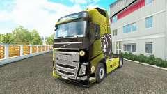 Boston Bruins skin for Volvo truck for Euro Truck Simulator 2