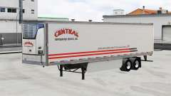 Skin Central v1.5 on refrigerated semi-trailer for American Truck Simulator
