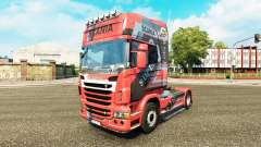 Skin Design on the N7 tractor Scania for Euro Truck Simulator 2