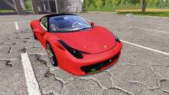 Ferrari 458 Italia for Farming Simulator 2017