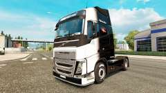 The Black and White skin for Volvo truck for Euro Truck Simulator 2