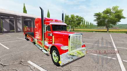 Peterbilt 388 flatbed auto load for Farming Simulator 2017