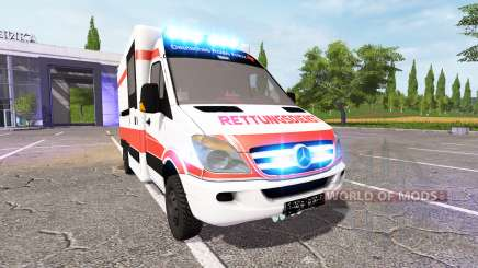 Mercedes-Benz Sprinter Ambulance v0.9 for Farming Simulator 2017