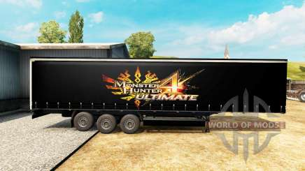 Skin Monster Hunter 4 Ultimate on the trailer for Euro Truck Simulator 2