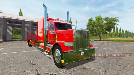 Peterbilt 388 flatbed for Farming Simulator 2017
