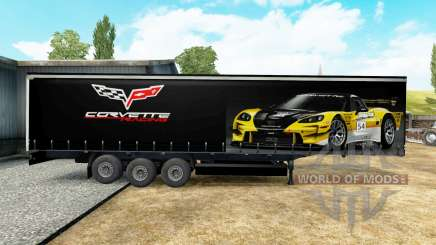 The skin on the Corvette Racing trailer for Euro Truck Simulator 2