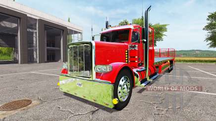 Peterbilt 388 flatbed day cab for Farming Simulator 2017