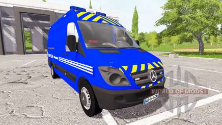 Mercedes-Benz Sprinter Gendarmerie for Farming Simulator 2017