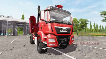 MAN TGS 18.480 wood crusher v1.2 for Farming Simulator 2017