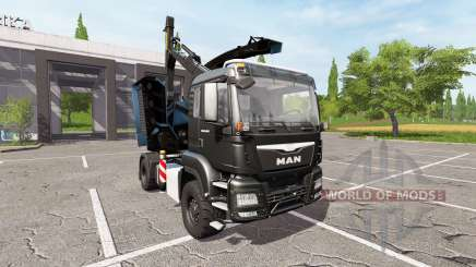 MAN TGS 18.480 wood crusher v1.3 for Farming Simulator 2017