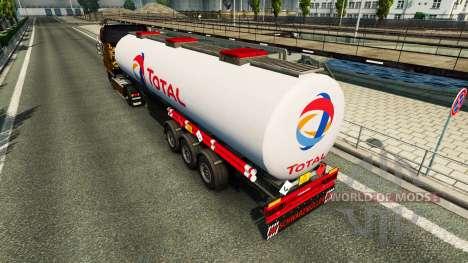 Skins on the fuel semi-trailer for Euro Truck Simulator 2