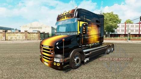 Golden skin for truck Scania T for Euro Truck Simulator 2