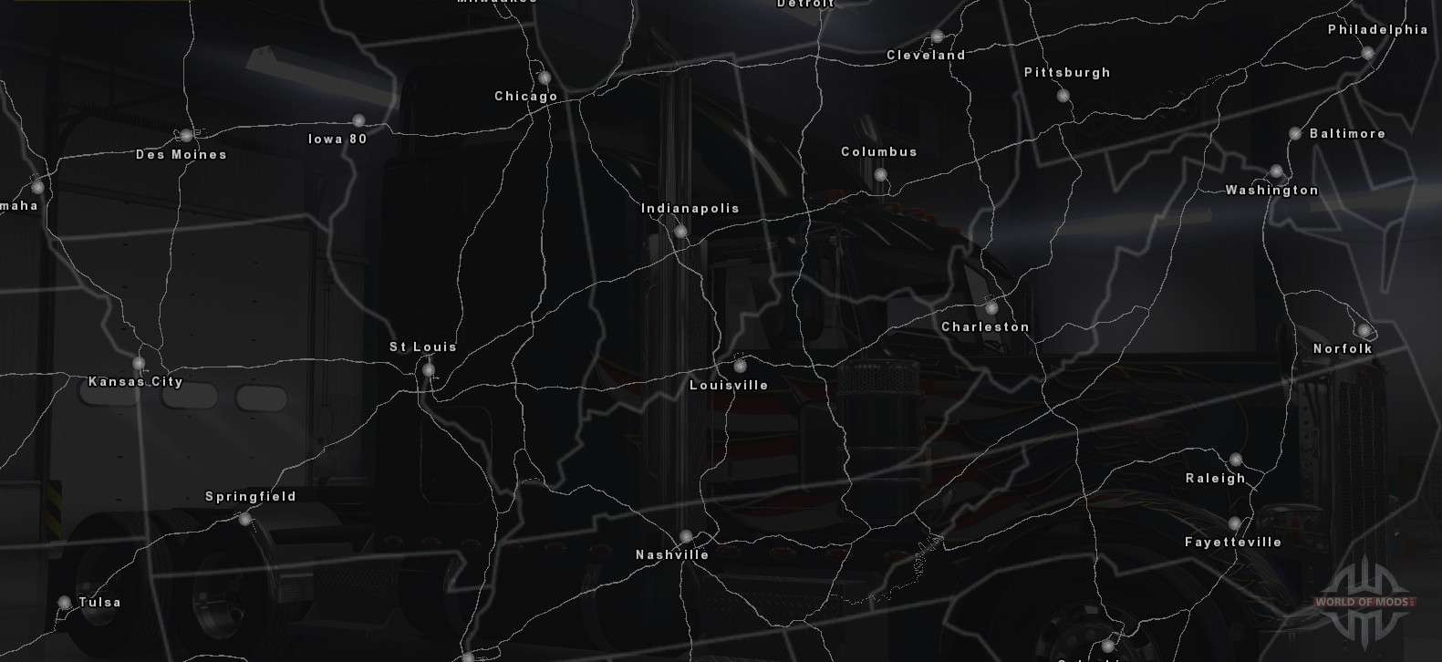 american truck simulator map 2017