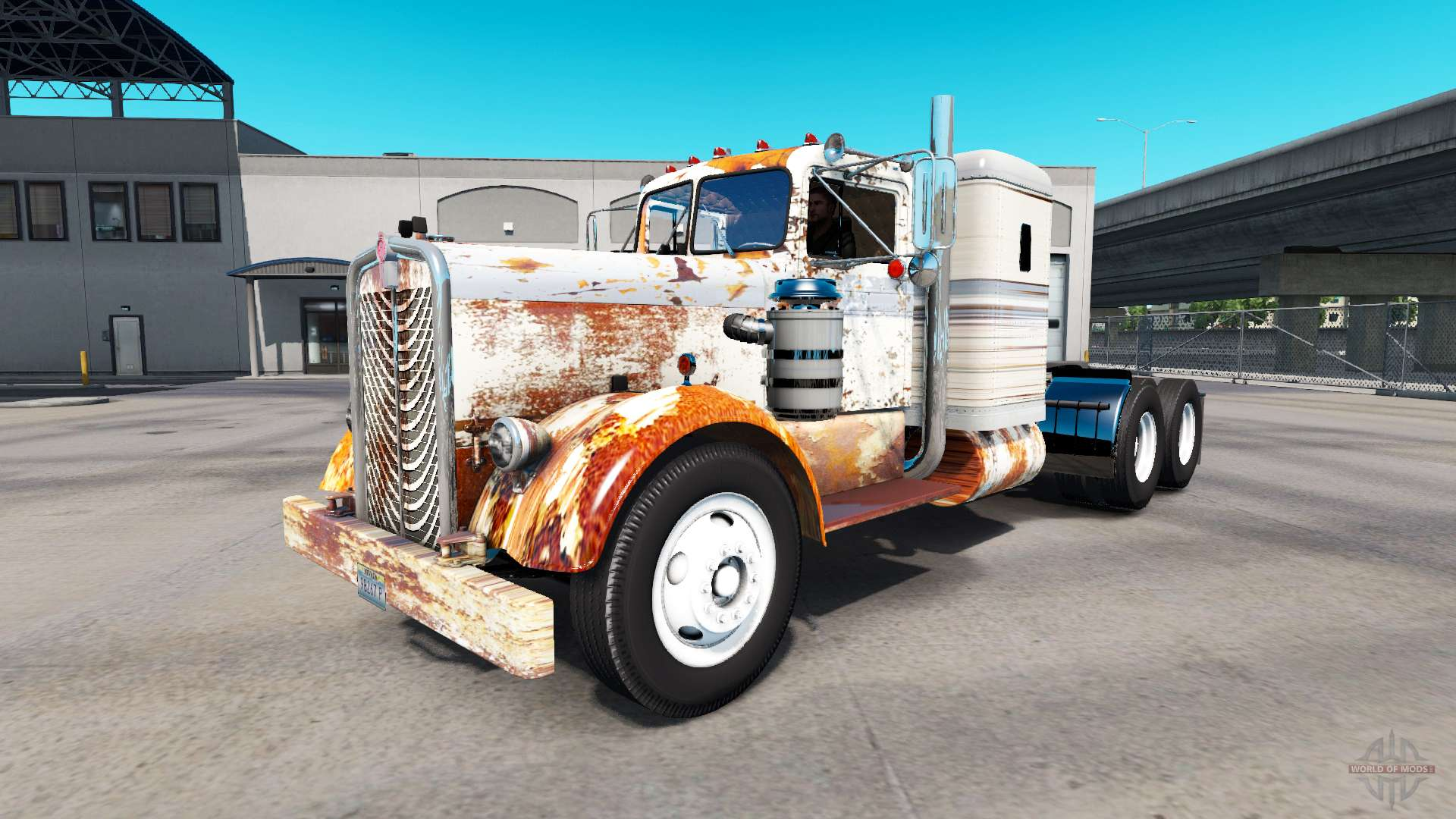 Skin Rusty Tractor On Kenworth 521 For American Truck
