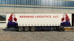 Skins Redhead Logistics on the trailer