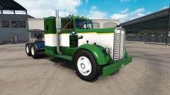 Skin Green & White truck tractor Kenworth 521