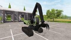Boom bucket backhoe loader for Farming Simulator 2017