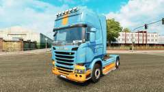 Skin DS3 on the tractor Scania for Euro Truck Simulator 2