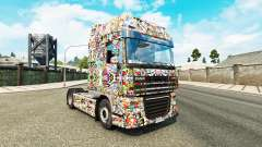Skin Sticker Bombing on DeLuxe tractor DAF