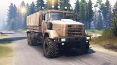 KrAZ-63221 v2.0 for Spin Tires