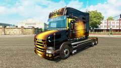 Golden skin for truck Scania T