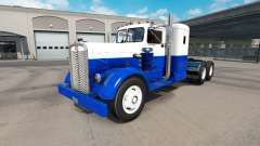 Skin Blue & White on the truck Kenworth 521