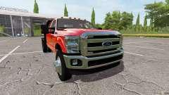 Ford F-350 flatbed for Farming Simulator 2017