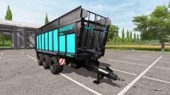 JOSKIN DRAKKAR 8600 blue black edition for Farming Simulator 2017