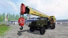 KrAZ 257 truck crane
