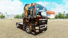The skin of Tiger on the truck MAN for Euro Truck Simulator 2