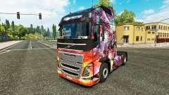 Princess Dragon skin for Volvo truck for Euro Truck Simulator 2