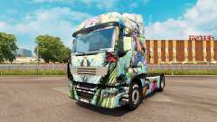 Skin One Piece on a tractor unit Renault for Euro Truck Simulator 2