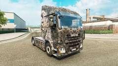 Skin Skeleton Warrior for truck Iveco for Euro Truck Simulator 2