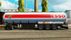 Skins on the fuel semi-trailer