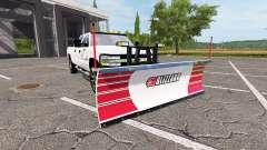 Chevrolet Silverado 2500 HD 2002 plow v3.0 for Farming Simulator 2017