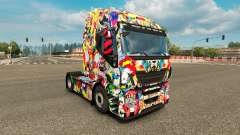 Skin Marvel Universe on the truck Iveco